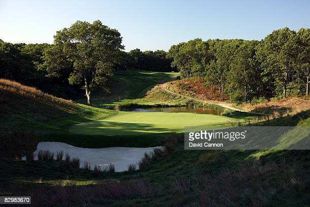 The par 3 8th hole on the Black Course at Bethpage State Park venue for the 2009 US Open Championship on September 23 2008 in Bethpage New York