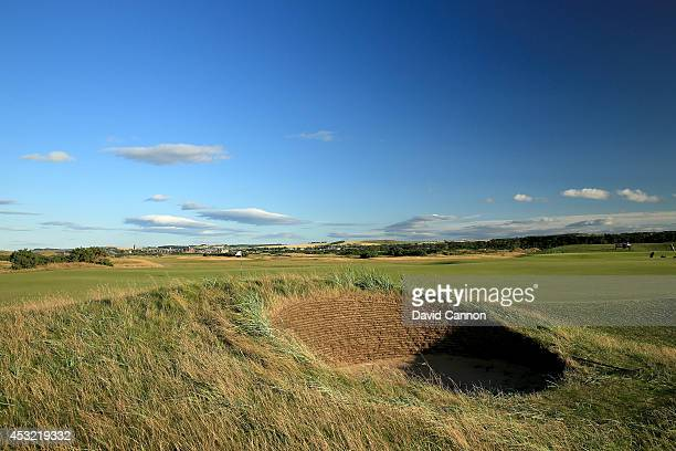 The par 3 8th hole on the Old Course at St Andrews venue for The Open Championship in 2015 on July 29 2014 in St Andrews Scotland