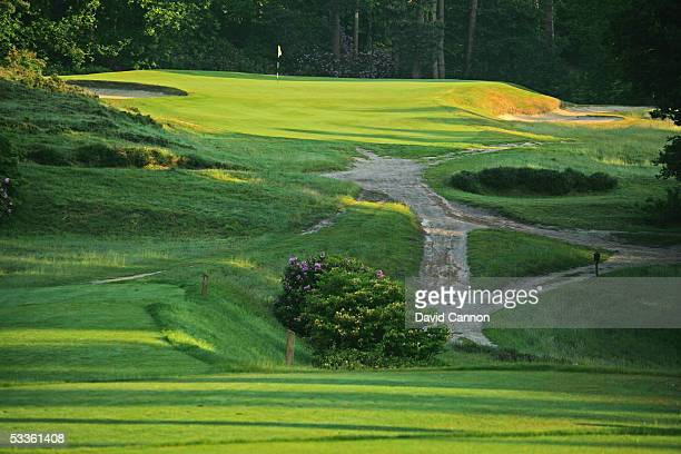 The par 3 8th hole on the Old Course at Sunningdale Golf Club on June 01 2005 in Sunnungdale England