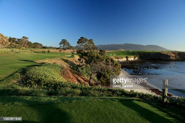 The par 3 fifth hole at Pebble Beach Golf Links the host venue for the 2019 US Open Championship on November 7 2018 in Pebble Beach California