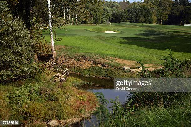 The par 38th hole at Valhalla Golf Club venue for the 2008 Ryder Cup Matches on October 2 2007 in Louisville Kentucky