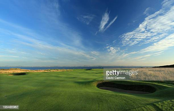 The par 4 11th hole at The Honourable Company of Edinburgh Golfers at Muirfield on August 31 in Gullane Lothian Scotland
