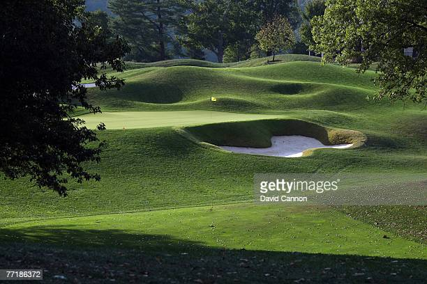 The par 4 12th hole at Valhalla Golf Club venue for the 2008 Ryder Cup Matches on October 2 2007 in Louisville Kentucky