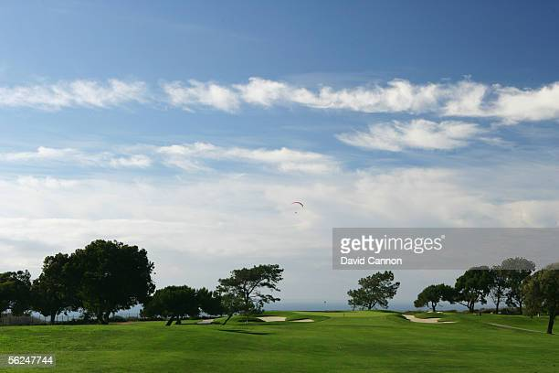 The par 4 13th hole on the South Course at Torrey Pines on October 26 2005 in San Diego California United States