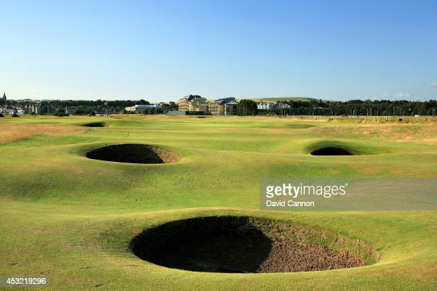 The par 4 15th hole on the Old Course at St Andrews venue for The Open Championship in 2015 on July 29 2014 in St Andrews Scotland