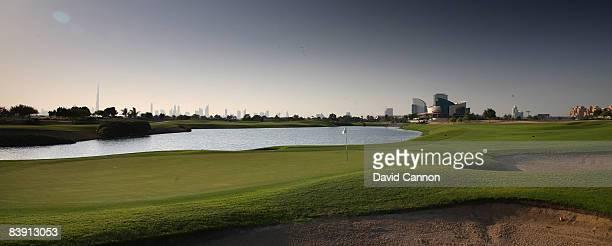 The par 4 16th hole at the Four Seasons Golf Club at Dubai Festival City on November 19 2008 in Dubai