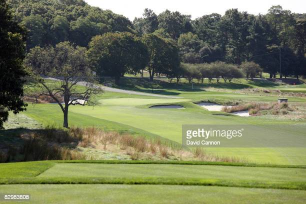 The par 4 16th hole on the Black Course at Bethpage State Park venue for the 2009 US Open Championship on September 23 2008 in Bethpage New York