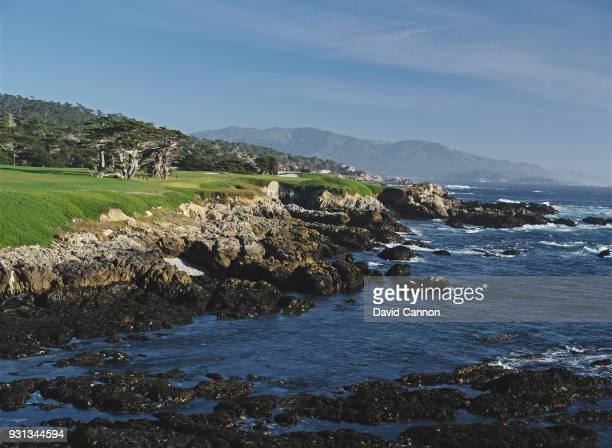 The par 4 17th hole at Cypress Point Golf Club on September 21 1992 in Pebble Beach California United States