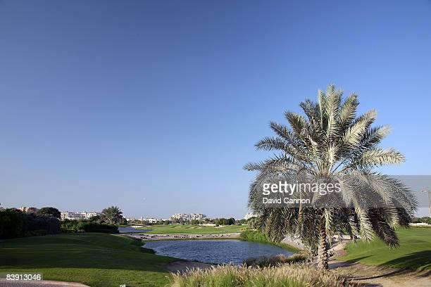 The par 4 17th hole at the Four Seasons Golf Club at Dubai Festival City on November 19 2008 in Dubai