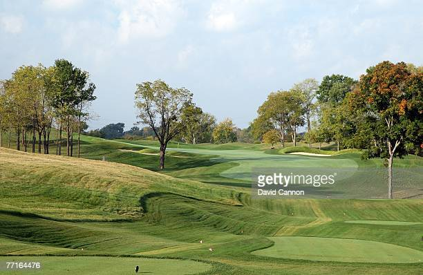 The par 4 17th hole at Valhalla Golf Club venue for the 2008 Ryder Cup Matches on October 2 2007 in Louisville Kentucky