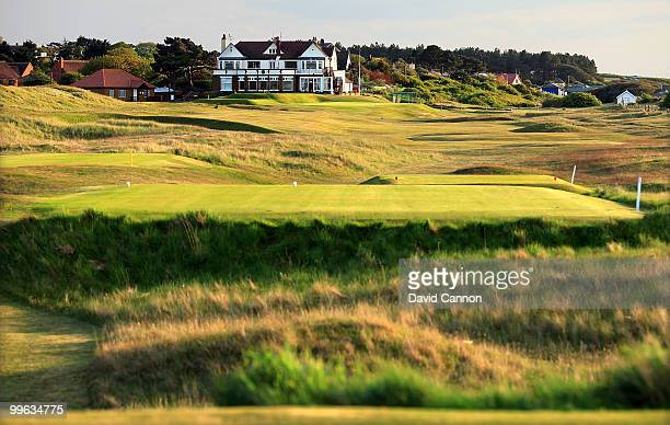 The par 4 18th hole at Hunstanton Golf Club on May 15 2010 in Hunstanton England