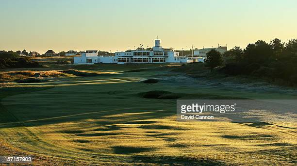 The par 4 18th hole at The Royal Birkdale Golf Club on September 22 in Southport Merseyside England