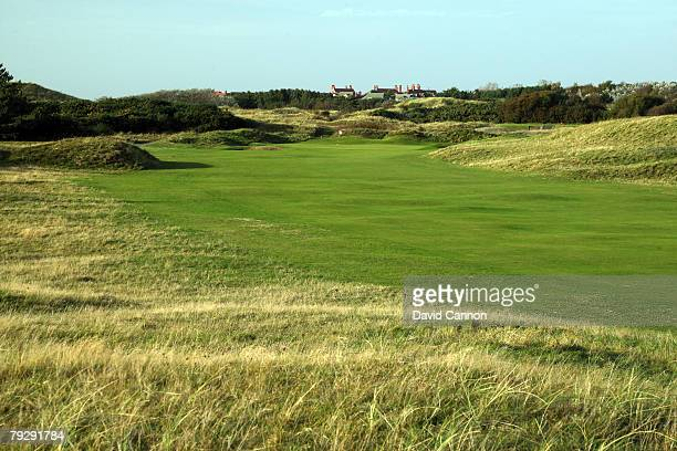 The par 4 1st hole at Royal Birkdale Golf Club venue for the 2008 Open Championship on October 9 2007 in Southport England