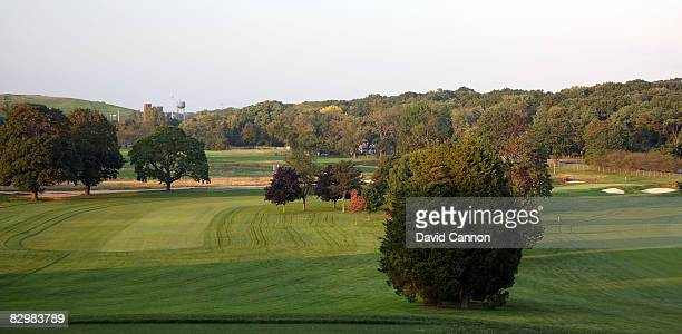 The par 4 1st hole on the Black Course at Bethpage State Park venue for the 2009 US Open Championship on September 23 2008 in Bethpage New York