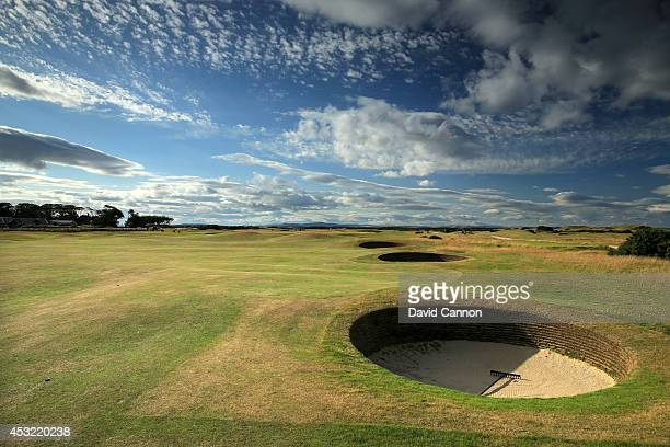 The par 4 3rd hole 'Cartgate Out' on the Old Course at St Andrews venue for The Open Championship in 2015 on July 29 2014 in St Andrews Scotland
