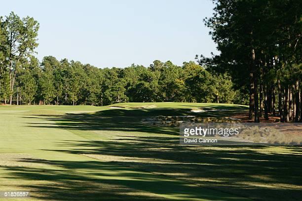 The par 4 3rd hole on The Pinehurst No 2 Course venue for the 2005 US Open, on November 14 in Pinehurst, North Carolina, USA.
