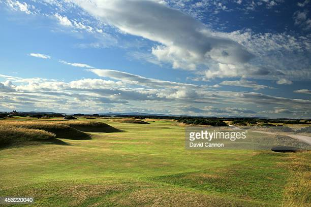The par 4 4th hole 'Ginger Beer' on the Old Course at St Andrews venue for The Open Championship in 2015 on July 29 2014 in St Andrews Scotland