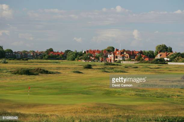 The par 4 5th hole from behind the tee on the Royal Liverpool Golf Course on June 10 2004 in Hoylake England