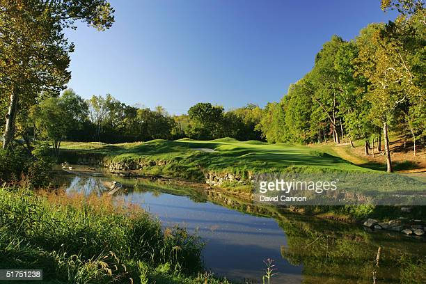 The par 4 6th green at the Valhalla Golf Club on September 21 2004 in Louisville Kentucky USA