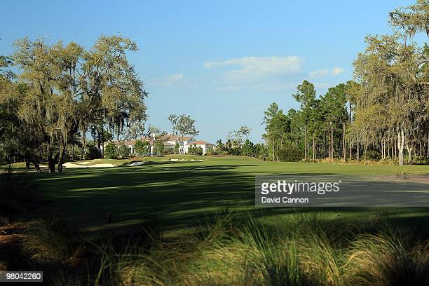 The par 4, 9th hole at the Concession Golf Club on March 18, 2010 in Bradenton, Florida.