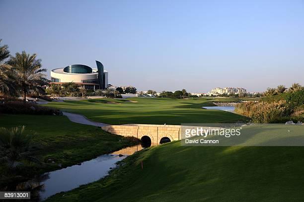 The par 4 9th hole on the Four Seasons Golf Club at Dubai Festival City on November 19 2008 in Dubai
