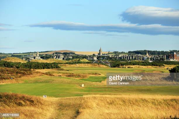 The par 4 9th hole on the Old Course at St Andrews venue for The Open Championship in 2015 on July 29 2014 in St Andrews Scotland