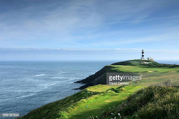 The par 4, fourth hole at the Old Head of Kinsale Golf Links on June 07, 2016 in Kinsale, Ireland.