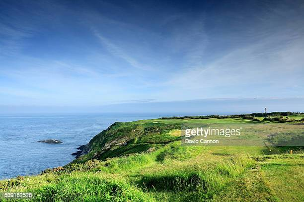 The par 4, second hole at the Old Head of Kinsale Golf Links on June 07, 2016 in Kinsale, Ireland.