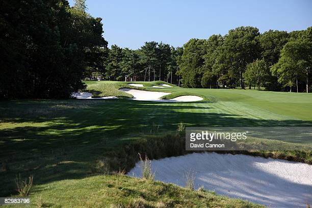 The par 5 13th hole on the Black Course at Bethpage State Park venue for the 2009 US Open Championship on September 23 2008 in Bethpage New York