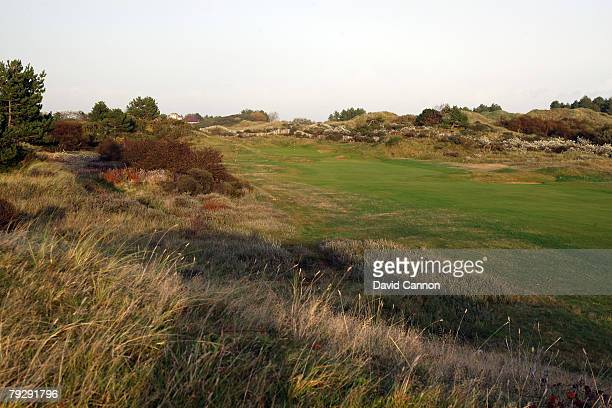 The par 5 17th hole at Royal Birkdale Golf Club venue for the 2008 Open Championship on October 9 2007 in Southport England