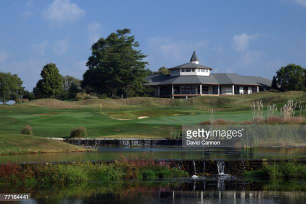 The par 5 18th hole at Valhalla Golf Club venue for the 2008 Ryder Cup Matches on October 2 2007 in Louisville Kentucky