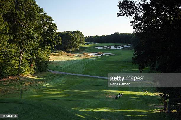 The par 5 4th hole on the Black Course at Bethpage State Park venue for the 2009 US Open Championship on September 23 2008 in Bethpage New York