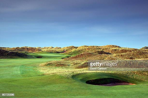 The par 5 6th hole at Royal Birkdale Golf Club venue for the 2008 Open Championship on October 10 2007 in Southport England