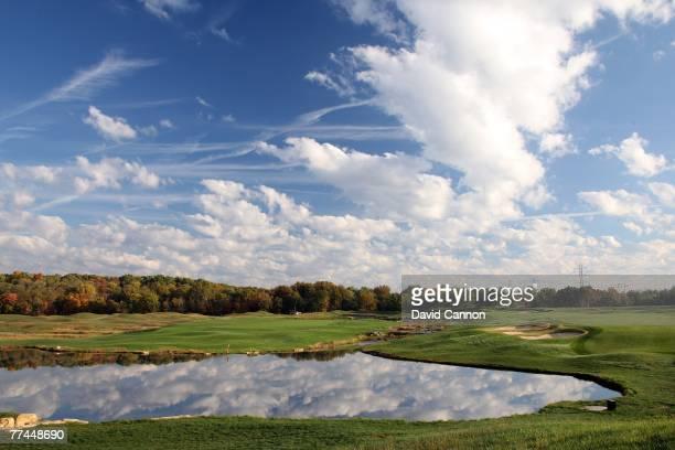 The par 5 7th hole at Valhalla Golf Club is previewed for the 2008 Ryder Cup at Valhalla Golf Club on October 22 2007 in LouisvilleKentucky