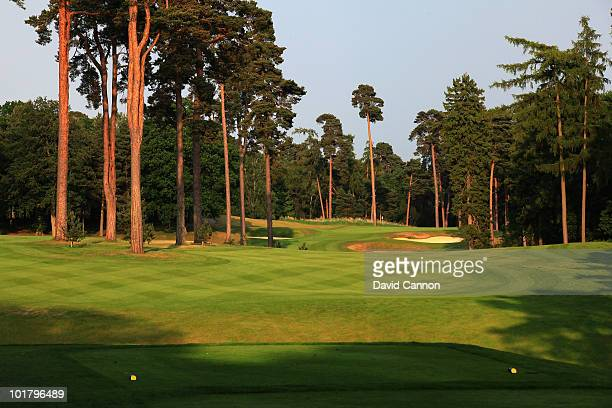 The par 5 7th hole on the Marquess Course at Woburn Golf and Country Club on June 4 in Little Brickhill England