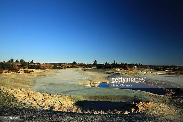The par 5 second hole on the Centenary Course at the Gleneagles Hotel venue for the 2014 Ryder Cup Matches on February 27 2013 in Auchterarder...