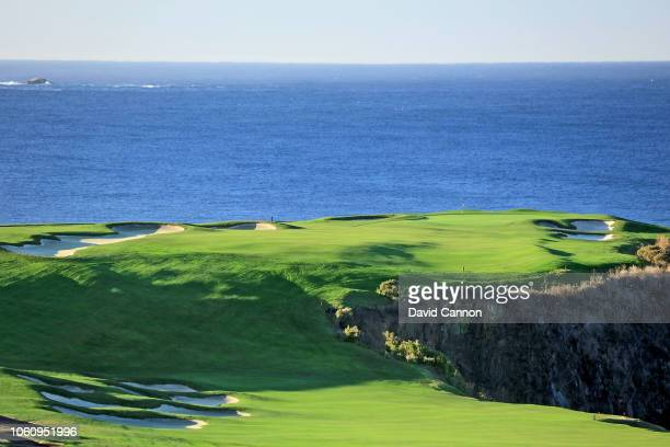 The par 5 sixth hole at Pebble Beach Golf Links the host venue for the 2019 US Open Championship on November 8 2018 in Pebble Beach California