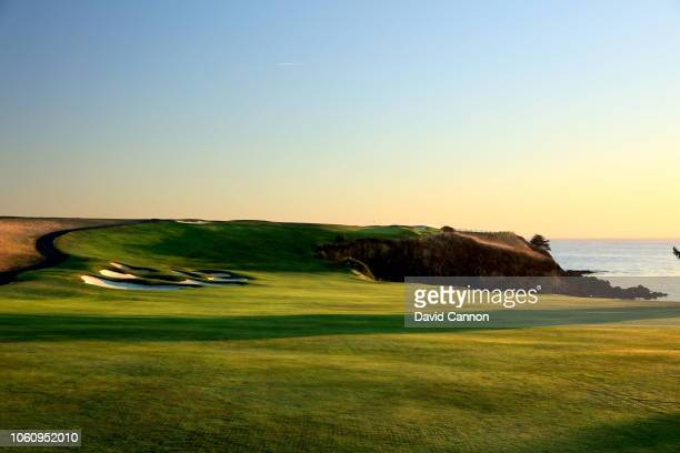 The par 5 sixth hole at Pebble Beach Golf Links the host venue for the 2019 US Open Championship on November 7 2018 in Pebble Beach California