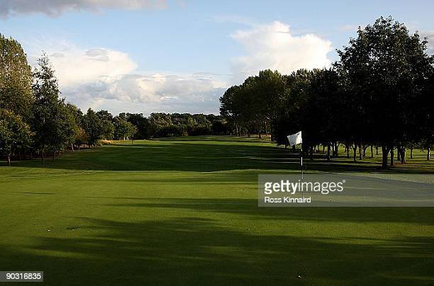 The par four 14th hole at The Leicestershire Golf Club on September 1 2009 in Leicester England
