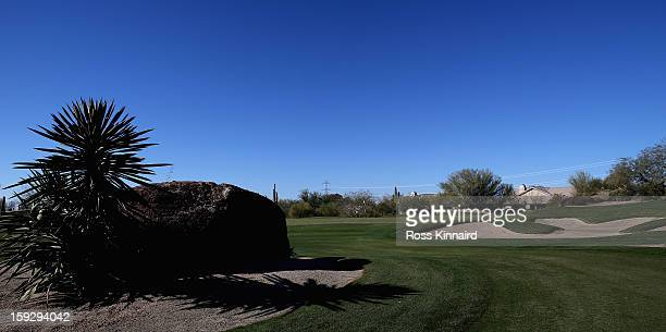 The par four 4th hole on the Monument Course at the Troon North Golf Club Scottsdale on January 4 2013 in Scottsdale Arizona