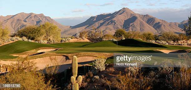 The par three 11th hole on The Tallon Course at the Gray Hawk Golf Club Scottsdale on December 26 2012 in Scottsdale Arizona