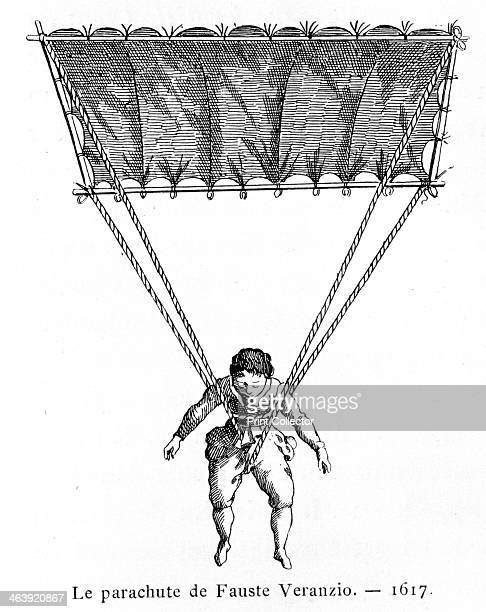 The Parachute of Fauste Veranzio The inventor Fauste Veranzio deveolped a parachute after studying Leonardo da Vinci's sketches of one He tested it...