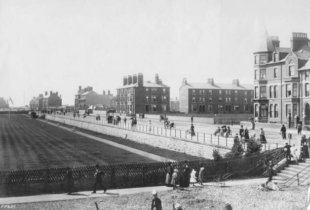 The Parade at Skegness, Lincolnshire, circa 1900.