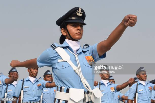 dbb84285e8f The parade by Indian Air Force officers on the 85th anniversary of Indian Air  Force at