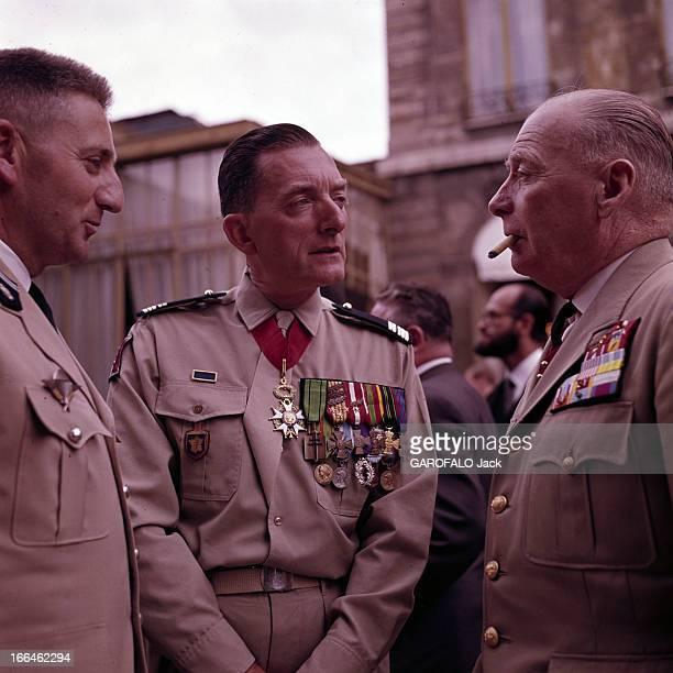 Charles De Gaulle Receives The Ambassadors Vinogradov And Charles Bolhen Paris Défilé du 14 juillet 1963 Le colonel Alain de BOISSIEU en uniforme...