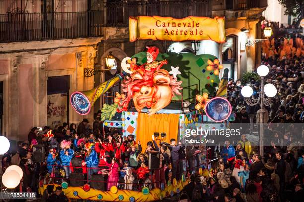The parade of the float entitled Diversamente Carnevale dedicated to people with disabilities On the float many disabled children participated in the...