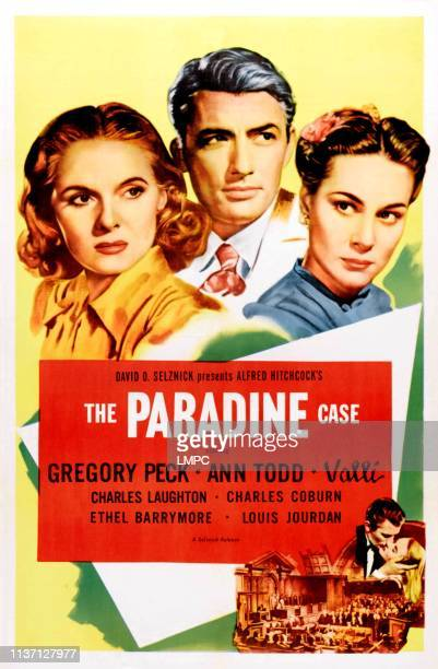 The Paradine Case poster Ann Todd Gregory Peck Alida Valli 1947