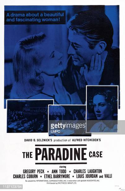 The Paradine Case poster US poster top from left Ann Todd Gregory Peck Alida Valli 1947