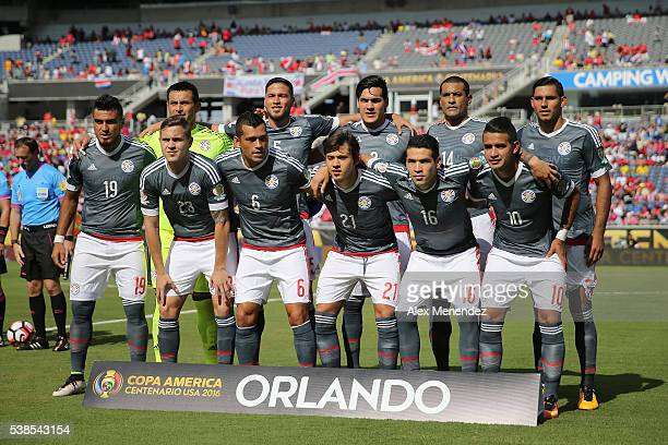 The Paraguay starting lineup during the 2016 Copa America Centenario Group A match between Costa Rica and Paraguay at Camping World Stadium on June 4...