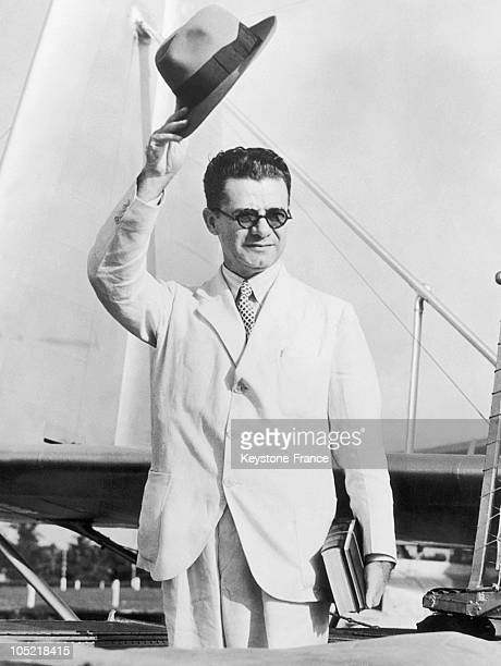 The Paraguayan General And Minister Jose Felix Estigarribia In Miami, En Route For Asuncion, Paraguay On July 2, 1938. Between 1932 And 1935, He Was...